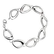 seB3331 (Sterling Silver Pebble Shapes Bracelet )