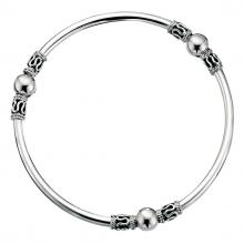 gbB361 (Sterling Silver Bohemian Design Bangle)