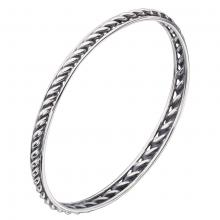 gbB4671 (Sterling Silver Vintage Design Bangle)