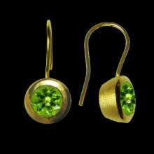 vzA161ED (Gold Round earrings with Semi Precious Stones)