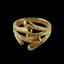 vzA442R (Gold Twig Ring)